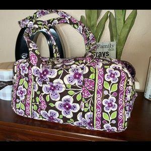 Vera Bradley purple plum blossom bag purse MU bag